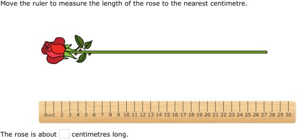 ixl measure using a centimetre ruler 2nd class maths practice