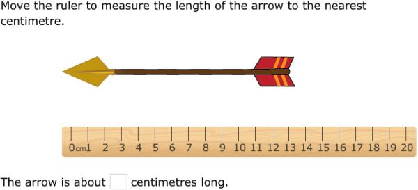 ixl measure using a centimetre ruler 1st class maths practice